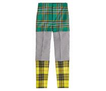 Pants im Patchwork Look aus Schurwolle mit Zippern