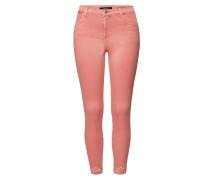 Distressed High Rise Crop Skinny Jeans Alana