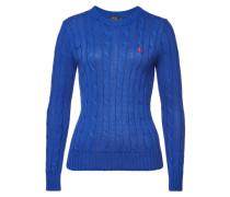 Bestickter Zopfstrick-Pullover Julianna aus Baumwolle