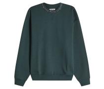 Baumwoll-Sweatshirt mit Label-Schriftzug