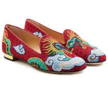 Bestickte Loafers Dragon
