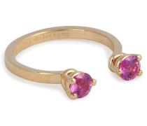 Ring aus 18kt Gelbgold mit Saphiren