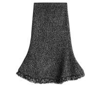 Flared-Skirt aus Wolle und Kaschmir mit Fransen