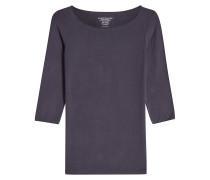 T-Shirt mit U-Boot-Ausschnitt und 3/4-Ärmeln