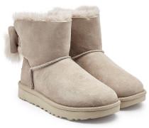 Boots Fluff Bow Mini aus Lammfell