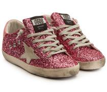 Sneakers Super Star mit Leder und Glitter Finish