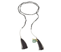 Halskette mit Metall, Quasten und Charms