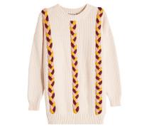 Pullover aus Baumwolle und Wolle mit Flechtdetails