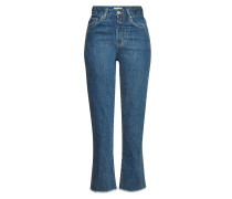 Cropped Straight Leg Jeans Glow