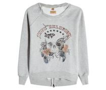 Bedrucktes Sweatshirt mit Zipper