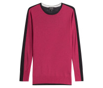 Kaschmirpullover im Two-Tone-Look