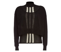 Cropped Pullover aus Wolle