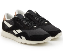 Sneakers Classic Nylon aus Veloursleder und Textil