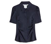 Geraffte Bluse aus Seide und Wolle