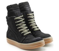 High Top Sneakers Geobasket aus Veloursleder