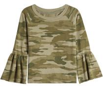 Camouflage-Sweatshirt The Ruffle Sleeve aus Baumwolle