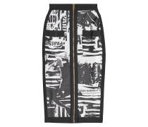 Gemusterter Pencilskirt mit Zipper