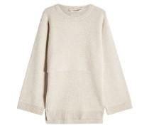 Oversized Pullover aus extrafeiner Wolle und Kaschmir