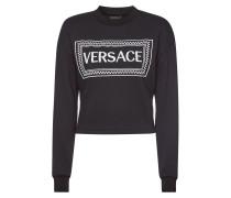 Cropped Sweatshirt aus Baumwolle