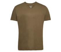 T-Shirt aus Baumwolle mit V-Ausschnitt