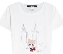 Besticktes T-Shirt Choupette Ice Skating aus Baumwolle