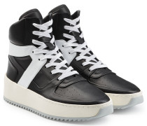 High Top Sneakers Basketball aus Leder
