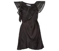 One-Shoulder-Kleid mit Spitze und Volants