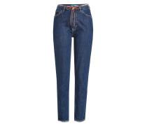 High Waist Jeans mit feiner Kordel