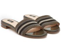 Verzierte Slides aus Leder