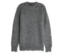 Pullover aus Mohair und Seide im Destroyed Look