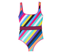 Gestreifter Swimsuit