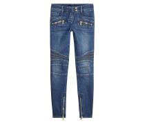 Skinny Jeans im Biker Look