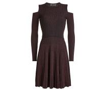 Cold-Shoulder-Kleid aus Wolle mit Glitter Finish