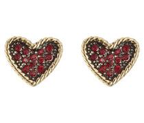 Ohrstecker MJ Coin Heart Studs mit Kristallen