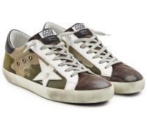 Bedruckte Sneakers Super Star aus Canvas und Leder