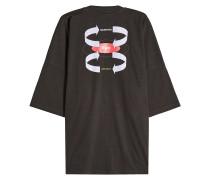 Bedrucktes oversized T-Shirt aus Baumwolle