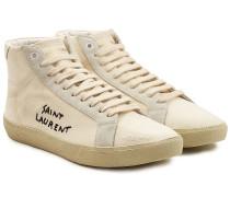 Bedruckte High Top Sneakers mit Veloursleder