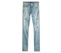 Skinny Jeans mit Distressed Details
