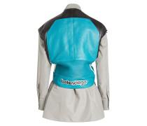 Bluse Hybrid mit Baumwolle und Lederweste