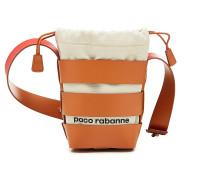 Bucket Bag Cage Hobo Mini aus Leder und Baumwolle