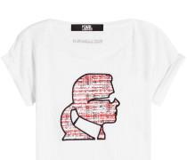 Besticktes T-Shirt aus Leinen