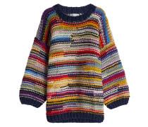 Gemusterter oversized Pullover aus Wolle