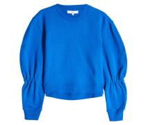 Sweatshirt aus Baumwolle mit Statement-Ärmeln