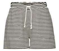 Gestreifte Shorts Felpa mit Baumwolle