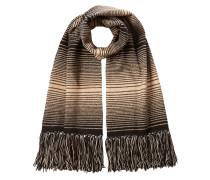 Gestreifter Schal aus Wolle