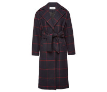 Karierter Mantel mit Wolle