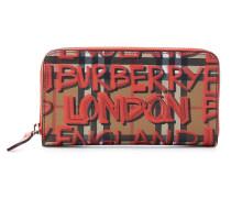 Bedrucktes Portemonnaie aus Leder