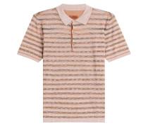 Gestreiftes Polo-Shirt aus Leinen und Baumwolle