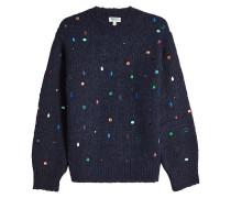 Pullover aus Wolle und Mohair mit Schmucksteinen