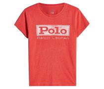 Besticktes T-Shirt aus Baumwolle mit Logo-Print
